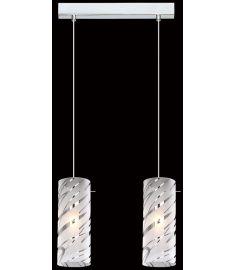 Italux HALO függőlámpa, E27, 2x60W, króm/fehér