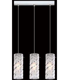Italux HALO függőlámpa, E27, 3x60W, króm/fehér