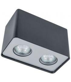 Italux HARRIS mennyezeti spot lámpa 10x19 cm, GU10, 2x50W, fekete
