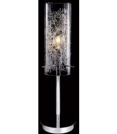 Italux IBIZA asztali lámpa, E14, 1x40W, átlátszó/króm