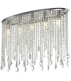 Italux KAAS mennyezeti kristály lámpa, E14, 5x40W, króm