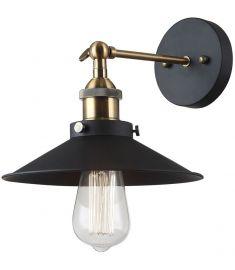 Italux KERMIO fali lámpa, E27, 1x60W, arany/fekete