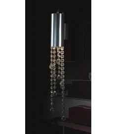 Italux LARIX fali lámpa kristály dekorral, GU10, 1x35W, króm/ezüst