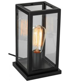 Italux LAVERNO asztali lámpa, E27, 1x60W, fekete