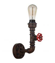 Italux MANILA fali lámpa, E27, 1x60W, rozsdás