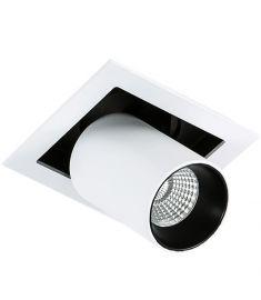 Italux MERCANTA trafó nélkül beépíthető spot lámpa, 3000K, LED, 1x12W, fehér/fekete