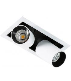 Italux MERCANTA trafó nélkül beépíthető spot lámpa, 4000K, LED, 2x12W, fehér/fekete