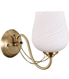 Italux METAMO fali lámpa, E27, 1x60W, arany/fehér