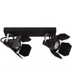 Italux MILTON mennyezeti spot lámpa, GU10, 2x35W, fekete