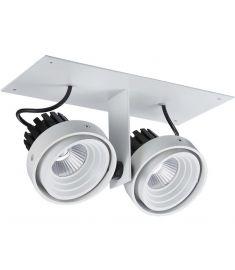Italux PATRIZIO trafó nélkül részben beépíthető spot lámpa, 3000K, LED, 2x12W, fekete/fehér