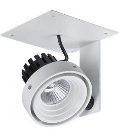 Italux PATRIZIO trafó nélkül részben beépíthető spot lámpa, 4000K, LED, 1x12W, fekete/fehér