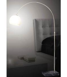 Italux PIEGANO állólámpa, E27, 1x60W, fekete/króm/fehér