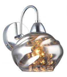 Italux RITMO fali lámpa, kristály dekorral, E14, 1x40W, króm