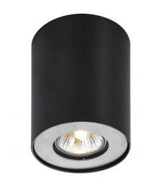 Italux SHANNON mennyezeti spot lámpa, kerek, d10.3cm, GU10, 1x50W, fekete