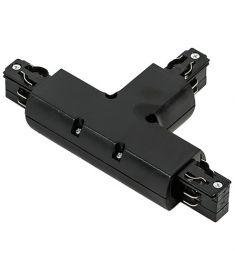 Italux TRACK T csatlakozó sínes világításhoz, fekete