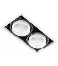 Italux VERTICO trafó nélkül beépíthető spot lámpa, 3000K, LED, 2x18W, fehér/fekete