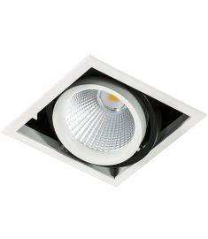 Italux VERTICO trafó nélkül beépíthető spot lámpa, 4000K, LED, 1x18W, fehér/fekete