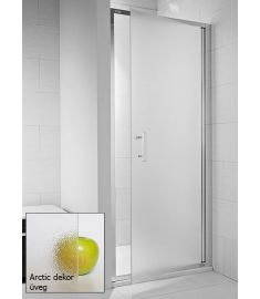 Jika CUBITO egy részes zuhanyajtó, 90x195 cm, ezüst profil, arctic dekor üveg H2542420026661