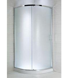 Jika CUBITO két részes, íves zuhanykabin, 90x90 cm, átlátszó üveg H2502420026681