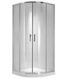 Jika CUBITO négy részes, íves zuhanykabin, 80x80 cm, átlátszó üveg H2532410026681