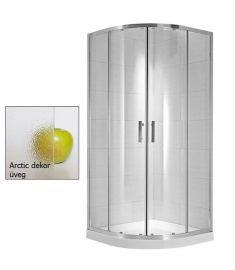 Jika CUBITO négy részes, íves zuhanykabin, 90x90 cm, arctic dekor üveg H2532420026661