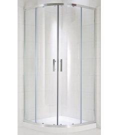Jika CUBITO négy részes, íves zuhanykabin, 90x90 cm, átlátszó üveg H2532420026681