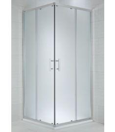 Jika CUBITO szögletes zuhanykabin, 80x80 cm, ezüst profil, arctic dekor üveg H2512410026661