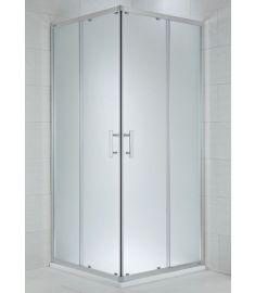 Jika CUBITO szögletes zuhanykabin, 90x90 cm, ezüst profil, arctic dekor üveg H2512420026661
