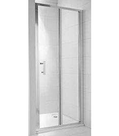 Jika CUBITO két részes zuhanyajtó, 80x195 cm, ezüst profil, átlátszó üveg H2552410026681