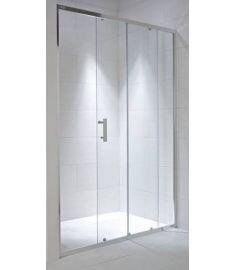 Jika CUBITO zuhanyajtó, 140x195 cm, 1 eltolható és 1 fix rész, átlátszó üveg H2422480026681
