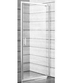 Jika LYRA PLUS egy részes zuhanykabin ajtó, 80 cm, átlátszó üveg, fehér fogantyú H2543810006681