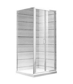 Jika LYRA PLUS összehajtható zuhanykabin ajtó, 90 cm, csíkos üveg, fehér profil H2553820006651