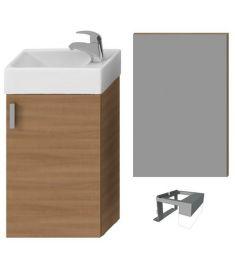 Jika PETIT mosdószekrény mosdóval + tükör világítással, cseresznye H4535141753081