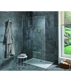 Jika PURE 140 zuhanyfal, oldalfalhoz rögzített, oldalrögzítő profillal, 1 támasz H2674250026681
