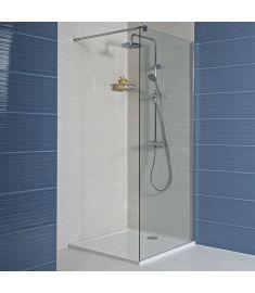 Jika PURE 80 zuhanyfal, oldalfalhoz rögzített, oldalrögzítő profillal, 1 támasz H2684200026681