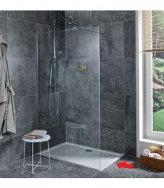 Jika PURE 70 zuhanyfal, oldalfalhoz rögzített, oldalrögzítő profillal, 1 támasz H2674290026681