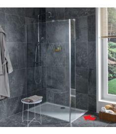 Jika PURE 120 zuhanyfal, oldalfalhoz rögzített, rövid üvegfallal, sarok profillal H2674260026681