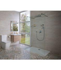 Jika PURE 120 zuhanyfal, rögzített, két támasszal H2674200026681