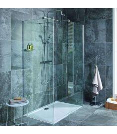 Jika PURE Walk In zuhanykabin, hátfalhoz illeszthető, 68x80 cm H2684270026681