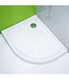 Jika TIGO kerámia zuhanytálca, 100x80 cm, aszimmetrikus, balos, Antislip, csúszásgátolt H8522106000001