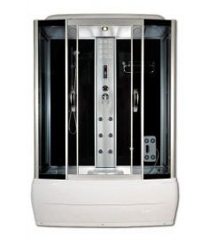Sanimix kádas hidromasszázs zuhanykabin, 150x85x220 cm, elektronikával, fekete hátfal 22.8011-150