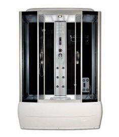 Sanimix kádas hidromasszázs zuhanykabin, 170x85x220 cm, elektronikával, fekete hátfal 22.8011-170