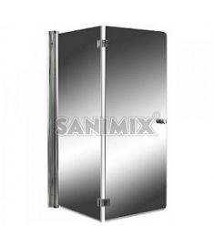 Sanimix kétrészes víztiszta kádparaván, 140x120 cm, biztonsági üveg 22.6060.5