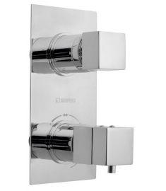 Sapho LATUS falba építhető termosztátos csaptelep, 2 irányú, króm, 1102-85