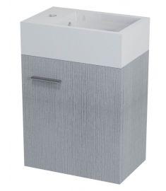 Sapho LATUS V mosdószekrény 36x40x23 cm, ezüst tölgy LT510