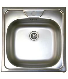 Livinox rozsdamentes Panel mosogató, egymedencés, középső csaplyukkal, natúr N-144K