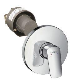 Hansgrohe LOGIS falba építhető zuhany csaptelep alaptesttel, króm 71666000