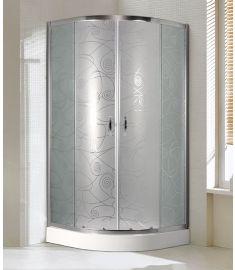 Niagara Wellness LOTUS ART íves zuhanykabin zuhanytálcával, 90x90 cm, két pontos fogantyúval 399-289
