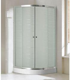 Niagara Wellness LOTUS WAVE íves zuhanykabin, ALEX zuhanytálcával, 90x90x206 cm 399-291