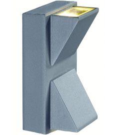Markslöjd CARINA kültéri fali lámpa, szürke, LED, 2x1W 102579